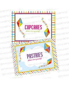 kites labels / buffet table cards