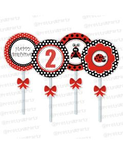 Lady Bug Cupcake / Food Toppers
