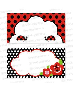 Lady bug Buffet Table Cards