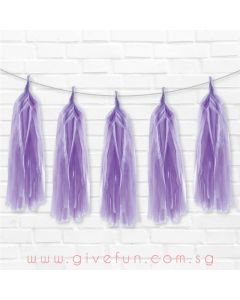 Violet Tassel Garland Kit - Set of 5