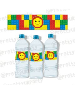 lego inspired bottle labels