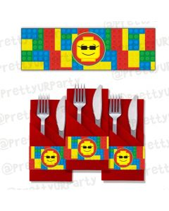 lego inspired napkin rings