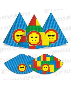 Lego inspired hats