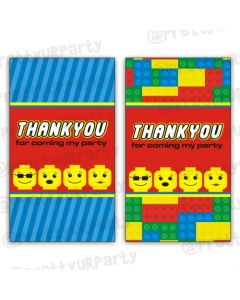 lego inspired thankyou cards