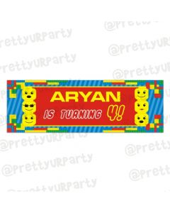 Personalized Lego Inspired Birthday Banner 36in
