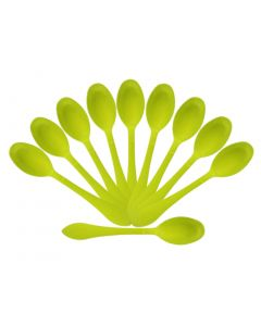 Lemon Yellow Plastic Spoons