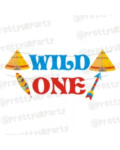 Wild One Theme Letter Bunting