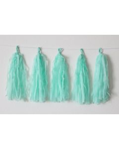 Light Blue Tassel Garland