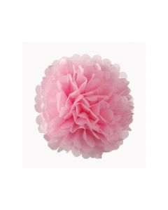 Light Pink Tissue Paper Pom Poms 10""