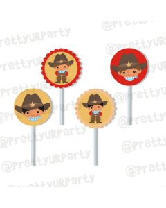little wrangler cupcake/ food toppers