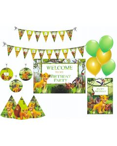 Lion King Party Decorations Package - 70 pieces