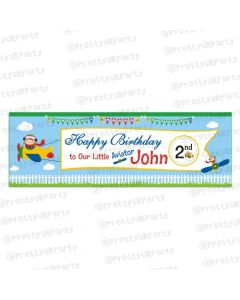 Personalised little aviator Banner