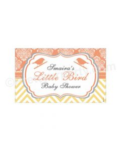Little Bird Baby Shower Theme Backdrop