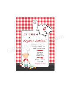 Little Chef Red E-Invitations