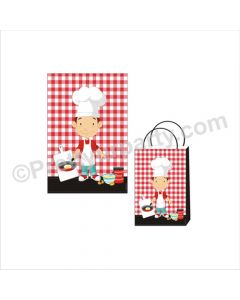 Little Chef Red Theme Khoi Bag / Pinata