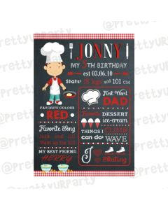 Little Chef Chalkboard Poster