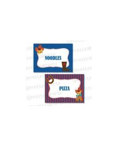 Little Cowboy Theme Food Labels / Buffet Table Cards