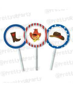 little cowboy cupcake / food toppers