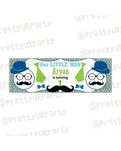 Personalized Little Man Banner