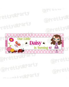 Personalized little miss daisy banner