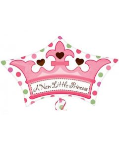 Anagram A new Little Princess Crown Balloon