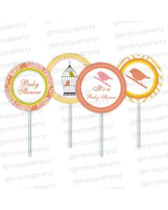 Little Bird Cupcake / Food Toppers