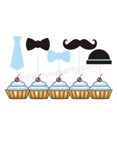 Little Man Cupcake Toppers