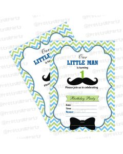little man theme invitations