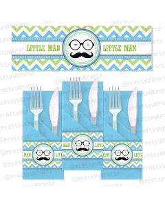 little man theme napkin rings