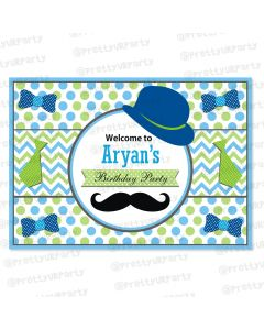 little man theme entrance banner / door sign
