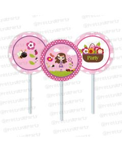 Little Miss Daisy Cupcake / Food Toppers