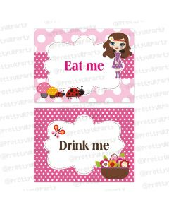 Little Miss Daisy  Labels / Buffet Table Cards