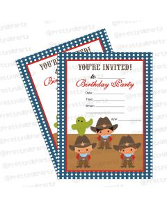 Little Wrangler Invitations