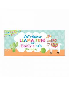 Personalized Llama Theme Banner 30in