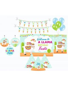 Llama Party Decorations Package - 70 pieces