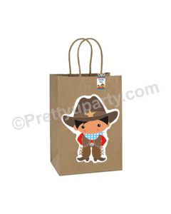 Little Wrangler Theme Gift Bags - Pack of 10