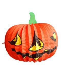 Halloween Paper Lamp Lighted Orange