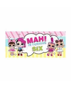 Personalized LOL Surprise Theme Banner 30in