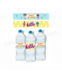 LOL Surprise Theme Water Bottle Labels