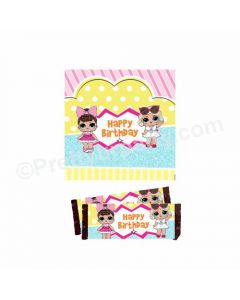 LOL Surprise Theme Chocolate Wrappers