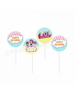 LOL Surprise Theme Cupcake / Food Toppers