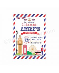 London Theme Invitations