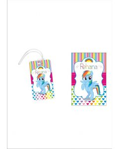 Personalized My Little Pony Luggage Tag