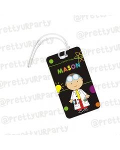 Mad Scientist Luggage Tag