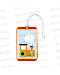 Personalized Train Luggage Tag