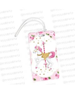 Personalized Carousel Luggage Tag