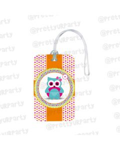 Girly Owl Luggage Tags