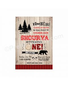 Lumberjack Theme Invitations