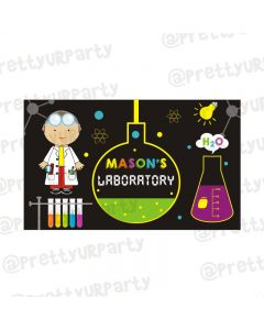 Mad Scientist Theme Backdrop