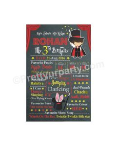 Magic Theme Chalkboard Poster